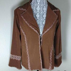Ms. G Wear Western Flair lace trim Jacket SZ M